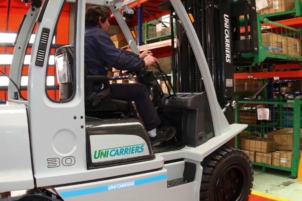 Forklift delivery in 2016.